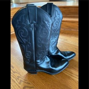 Justin Black Cowgirl Boots